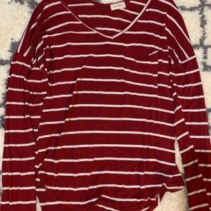 Free Kisses Tops - stripped long sleeve